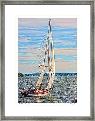Framed Print featuring the photograph Sailing Maine by Richard Bean