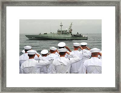 Sailors Salute Framed Print by Celestial Images