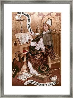 Saint Augustine (354-430) Framed Print by Granger