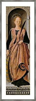 Saint Catherine Framed Print by Francesco del Cossa