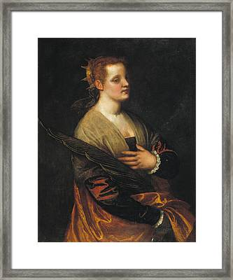Saint Catherine Framed Print by Paolo Veronese