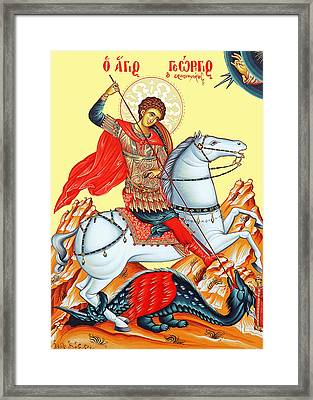 Saint George Framed Print by Munir Alawi