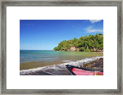 Framed Print featuring the photograph Saint Lucia by Gary Wonning
