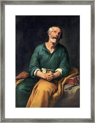 Saint Peter In Tears Framed Print
