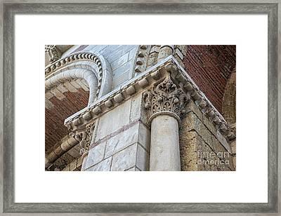 Framed Print featuring the photograph Saint Sernin Basilica Architectural Detail by Elena Elisseeva