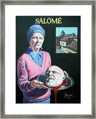 Salome Framed Print by Ray Johnstone