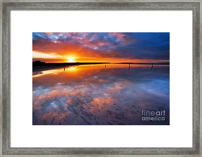 Salt Pan Sunrise Framed Print by Bill  Robinson