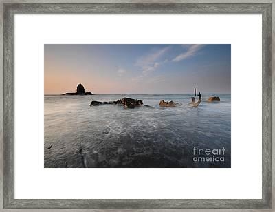 Saltwick Bay Framed Print by Nichola Denny