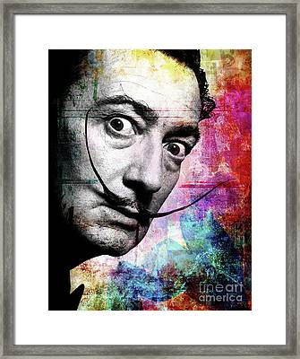 Salvador Dali Framed Print by Mark Ashkenazi