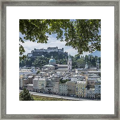 Salzburg Gorgeous Old Town  Framed Print by Melanie Viola