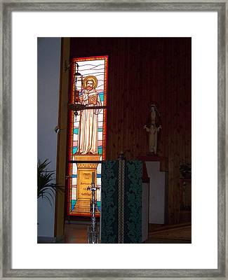 San Bernardo Abad Framed Print