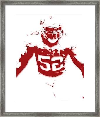 San Francisco 49ers Patrick Willis Framed Print by Joe Hamilton