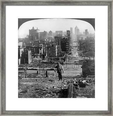 San Francisco Earthquake Framed Print