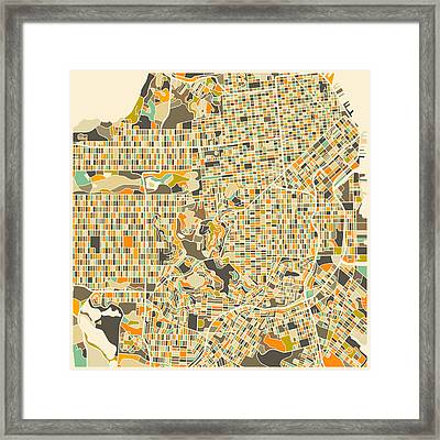 San Francisco Map Framed Print