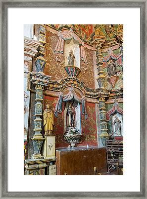 San Xavier Del Bac Mission - Tucson Arizona Framed Print by Jon Berghoff