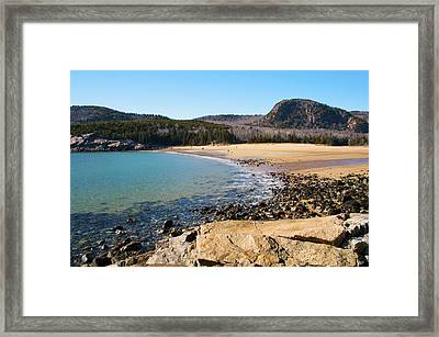 Sand Beach Acadia National Park Framed Print by Glenn Gordon