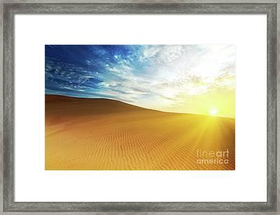 Sandy Desert Framed Print