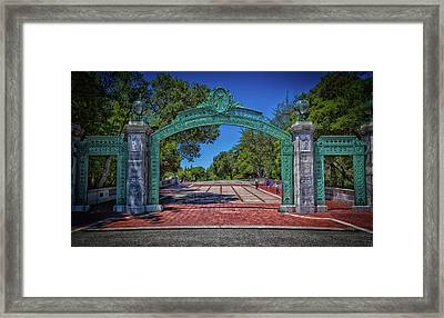 Sather Gate - Cal Berkeley Framed Print