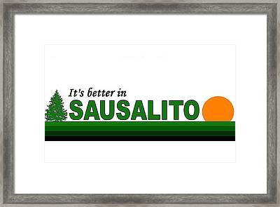 Sausalito California Framed Print