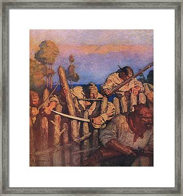 Scene From Treasure Island Framed Print by Newell Convers Wyeth