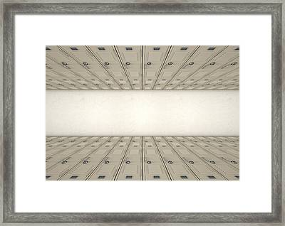 School Locker Corridor Framed Print