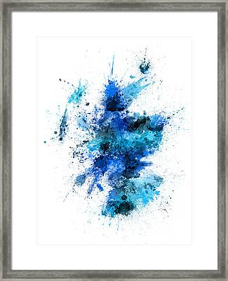 Scotland Paint Splashes Map Framed Print by Michael Tompsett