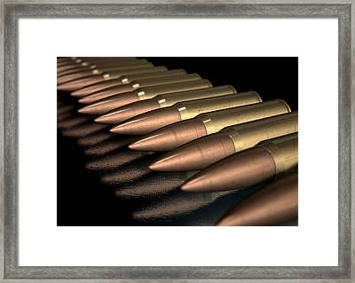Scratched Bullet Row Framed Print