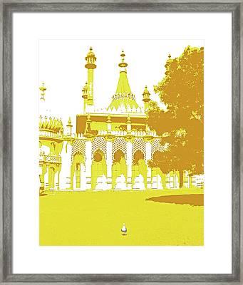Seagull At The Pavilion Framed Print
