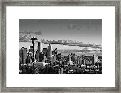 Seattle Skyline Framed Print by Jamie Pham