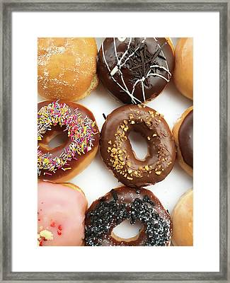 Selection Of Doughnut Framed Print by Tom Gowanlock