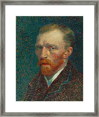 Self Portrait Framed Print by Vincent van Gogh