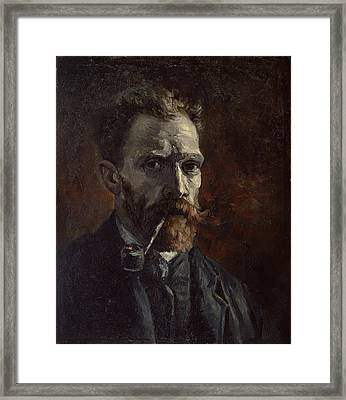 Self-portrait With Pipe Framed Print