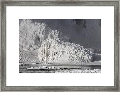 Seljalandsfoss Waterfall In The Winter Framed Print