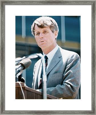 Senator Robert F. Kennedy Framed Print by Everett