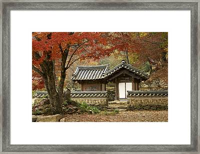 Seonamsa In Autumn Framed Print