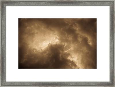 Sepia Clouds Framed Print