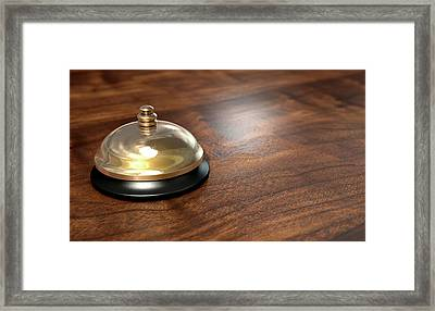 Service Bell Brass Framed Print
