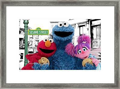 Sesame Street Framed Print