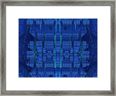 Settlement In Deep Space Framed Print