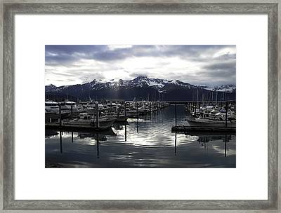 Seward Harbor Framed Print