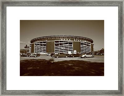 Shea Stadium - New York Mets Framed Print by Frank Romeo