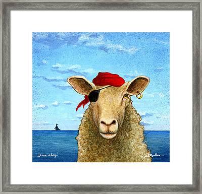 Sheep Ahoy Framed Print