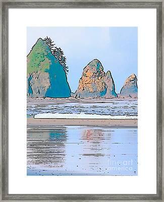Shi Shi Beach Framed Print by Lisa Dunn