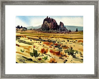 Shiprock Framed Print by Donald Maier