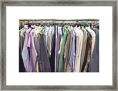 Shirts Framed Print by Tom Gowanlock