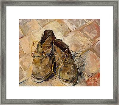 Shoes, 1888 Framed Print by Vincent Van Gogh