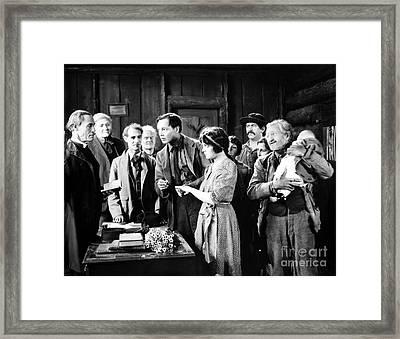 Silent Film Still: Wedding Framed Print by Granger