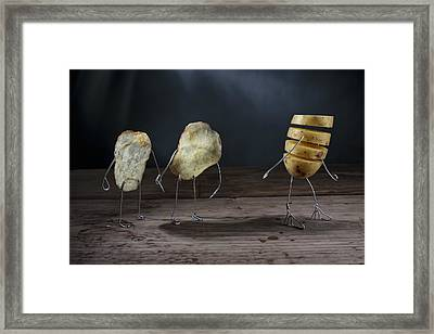 Simple Things - Potatoes Framed Print by Nailia Schwarz