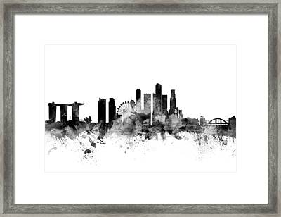 Singapore Skyline Framed Print by Michael Tompsett