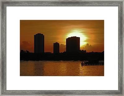 Framed Print featuring the photograph 2- Singer Island by Joseph Keane